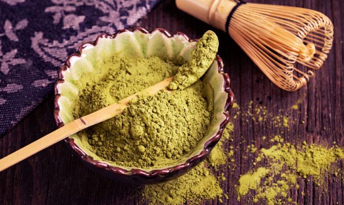 Tè verde macinato
