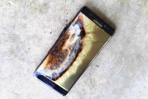Galaxy Note 7 Bruciato