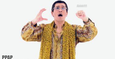 piko taro mentre canta la sua canzone pen pineapple apple pen