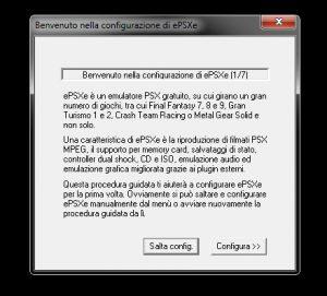 configurare epsxe l'emulatore della PS1